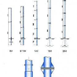 배전선로용 조립식 강관전주 / 칼라강관전주